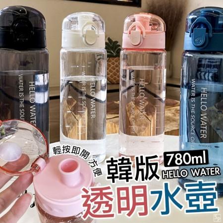 運動透明水壺 1組同色2支【藍黑粉現貨】