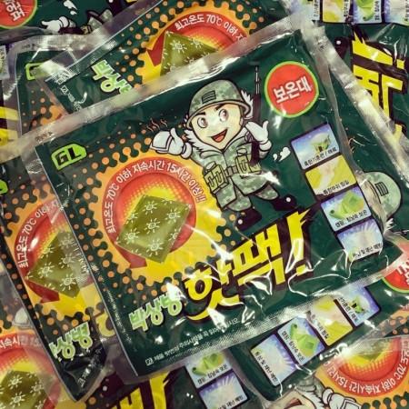 韓國 爆暖軍人加大暖暖包(一組兩包)140g*2【1/19收單】