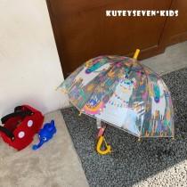 透明彩色可愛兒童傘【9/14收單】
