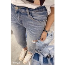 側破後口袋造型牛仔褲【每週3收單】