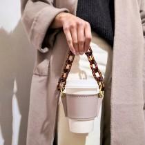 許願款 街拍必備時尚鏈皮革杯套 【少量現貨,每週3收單】