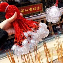 香港 正生 純銀招財鼠年紅繩掛飾【少量現貨】