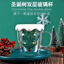 耐熱聖誕造型玻璃杯含杯蓋【少量現貨】